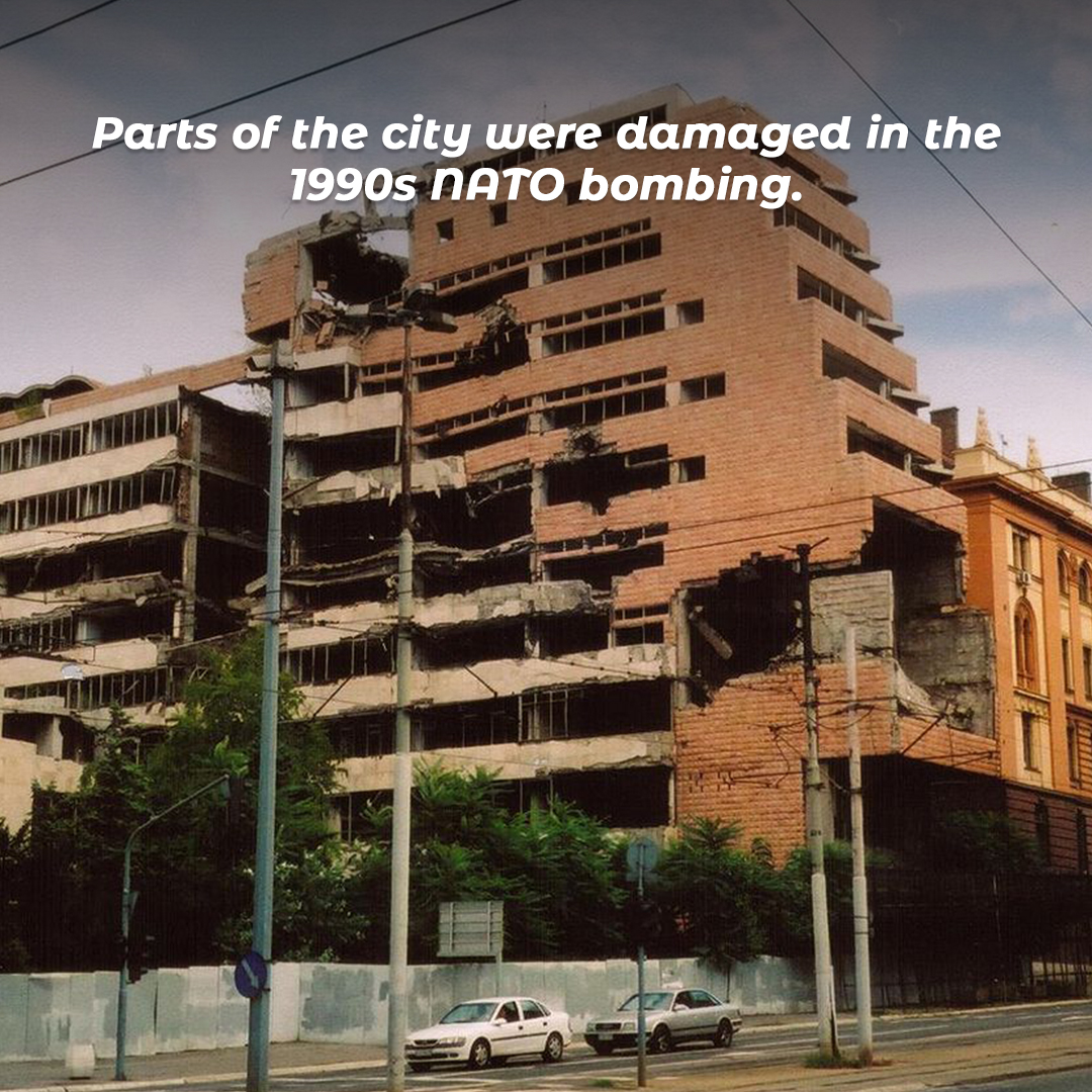 Parts of the city were damaged in the 1990s NATO bombing.