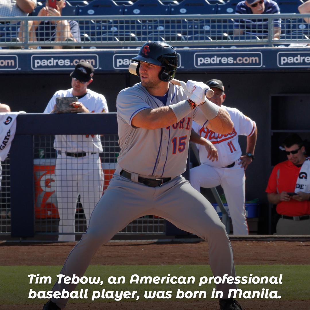 Tim Tebow, an American professional baseball player, was born in Manila.